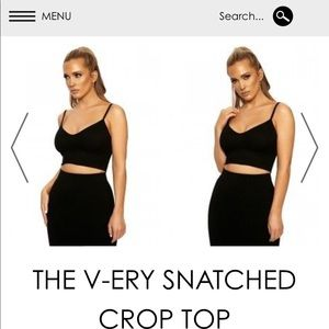V-ery snatched crop top